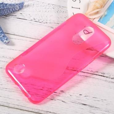 S-Line TPU géles védőtok LG K10 2017 készülékekhez – rózsaszín