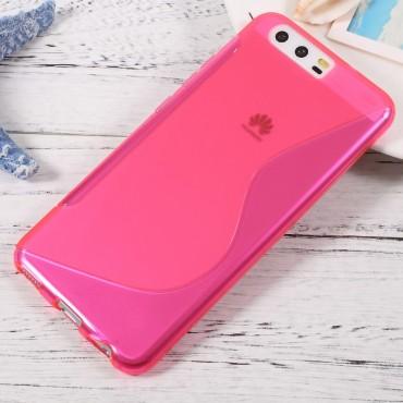 """TPU gél tok """"S-Line"""" Huawei P10 készülékekhez - rózsaszín"""