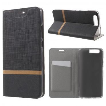 """Divatos nyitható tok """"Elegant Line"""" Huawei P10 készülékekhez - fekete"""