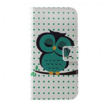 """Divatos """"Sleeping Owl"""" tárca Huawei P10 készülékekhez"""