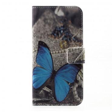 """Divatos """"Blue Butterfly"""" tárca Huawei P10 készülékekhez"""