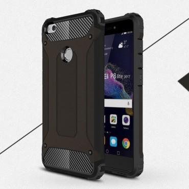 """Strapabíró """"Rock"""" védőtok Huawei Honor 8 Lite / P8 Lite 2017 / Nova Lite készülékekhez – fekete"""