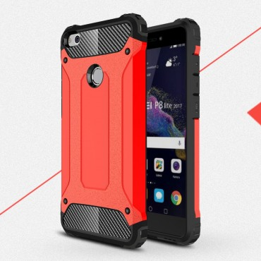 "Strapabíró tok ""Rock"" Huawei Honor 8 Lite / P8 Lite 2017 készülékekhez - piros"