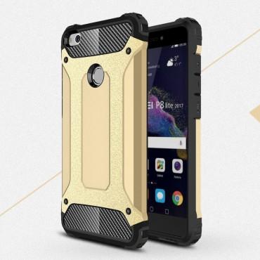 """Strapabíró tok """"Rock"""" Huawei Honor 8 Lite / P8 Lite 2017 készülékekhez - arany"""