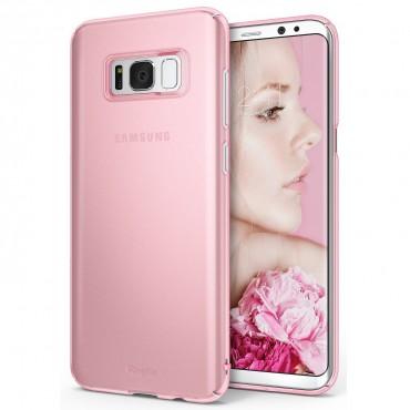 """Ringke """"Slim"""" védőtok Samsung Galaxy S8 Plus készülékekhez – frost pink"""