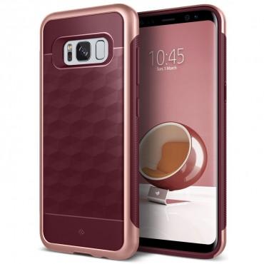 Caseology Parallax Series védőtok Samsung Galaxy S8 Plus készülékekhez – burgundy