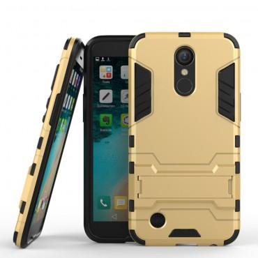 """Strapabíró """"Impact X"""" védőtok LG K10 2017 készülékekhez – aranyszínű"""