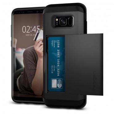 """Tok Spigen """"Slim Armor CS"""" Samsung Galaxy S8 Plus készülékekhez - black"""