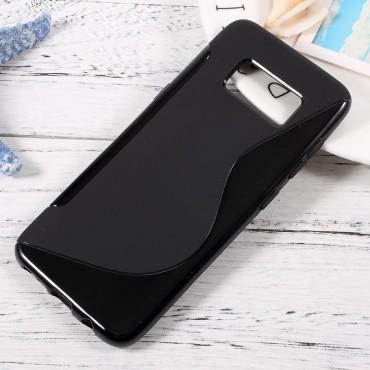 """TPU gél tok """"S-Line"""" Samsung Galaxy S8 készülékekhez - fekete"""