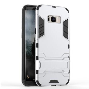"""Strapabíró """"Impact X"""" védőtok Samsung Galaxy S8 készülékekhez – ezüstszínű"""