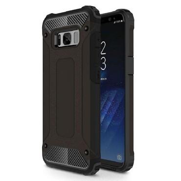 """Strapabíró """"Rock"""" védőtok Samsung Galaxy S8 készülékekhez – fekete"""