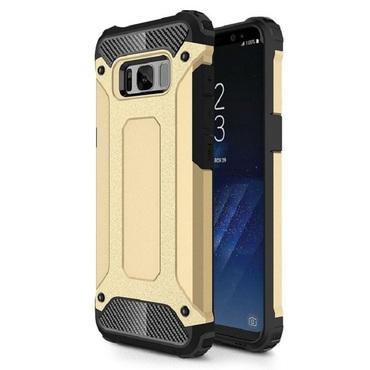 """Strapabíró """"Rock"""" védőtok Samsung Galaxy S8 készülékekhez – aranyszínű"""