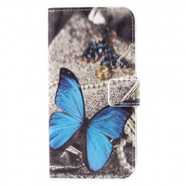 """Divatos """"Blue Butterfly"""" tárca Samsung Galaxy S8 készülékekhez"""