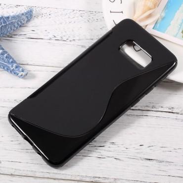 """TPU gél tok """"S-Line"""" Samsung Galaxy S8 Plus készülékekhez - fekete"""
