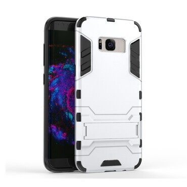"""Strapabíró """"Impact X"""" védőtok Samsung Galaxy S8 Plus készülékekhez – ezüstszínű"""