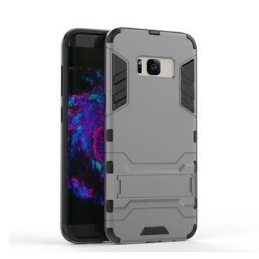 """Strapabíró """"Impact X"""" védőtok Samsung Galaxy S8 Plus készülékekhez – szürke"""