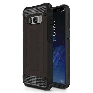 """Strapabíró """"Rock"""" védőtok Samsung Galaxy S8 Plus készülékekhez – fekete"""