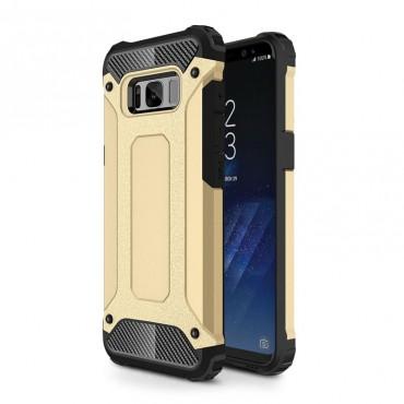 """Strapabíró """"Rock"""" védőtok Samsung Galaxy S8 Plus készülékekhez – aranyszínű"""