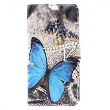 """Divatos """"Blue Butterfly"""" tárca Samsung Galaxy S8 Plus készülékekhez"""