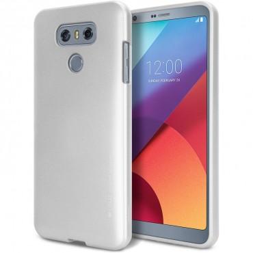 Goospery iJelly Case TPU géles védőtok LG G6 készülékekhez – ezüstszínű