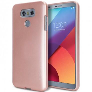 Goospery iJelly Case TPU géles védőtok LG G6 készülékekhez – rózsaszín