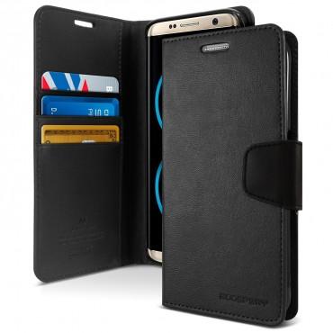 Elegáns Goospery Sonata tárca Samsung Galaxy S8 Plus készülékekhez – fekete