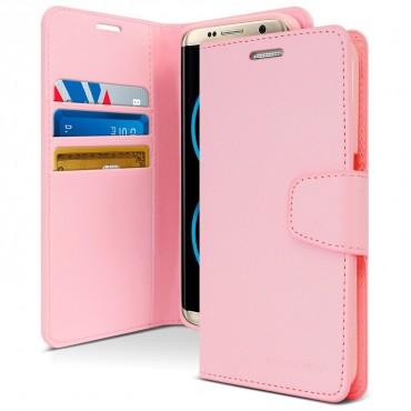 Elegáns Goospery Sonata tárca Samsung Galaxy S8 Plus készülékekhez – rózsaszín