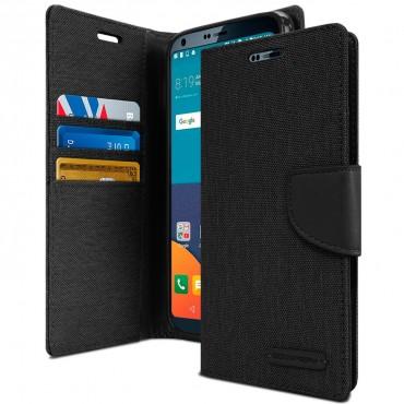 Goospery Canvas Diary tárca LG G6 készülékekhez – fekete