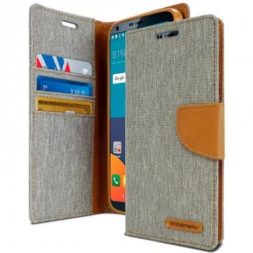 Goospery Canvas Diary tárca LG G6 készülékekhez – szürke