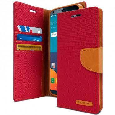 Goospery Canvas Diary tárca LG G6 készülékekhez – piros