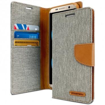 Goospery Canvas Diary tárca Samsung Galaxy S8 Plus készülékekhez – szürke