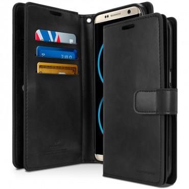 Nyitható tok és tárca Goospery Mansoor Diary Samsung Galaxy S8 Plus készülékekhez - fekete