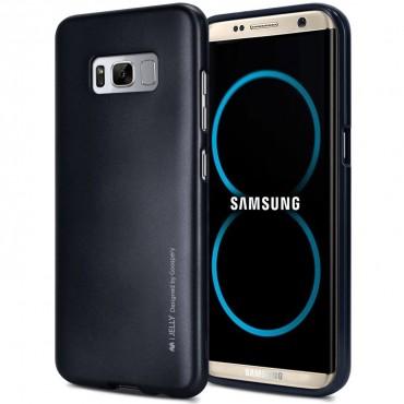 Goospery iJelly Case TPU géles védőtok Samsung Galaxy S8 készülékekhez – fekete