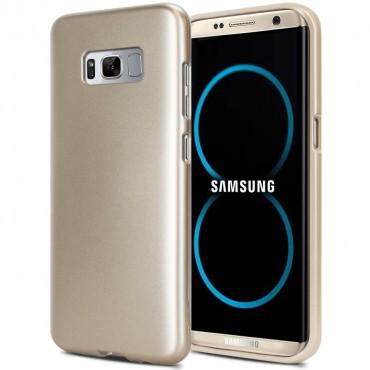 Goospery iJelly Case TPU géles védőtok Samsung Galaxy S8 Plus készülékekhez – aranyszínű