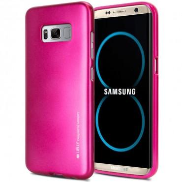 Goospery iJelly Case TPU géles védőtok Samsung Galaxy S8 Plus készülékekhez – magenta