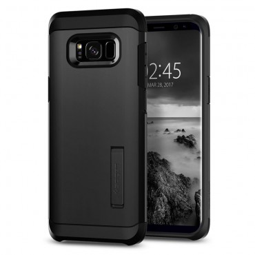"""Tok Spigen """"Tough Armor"""" Samsung Galaxy S8 készülékekhez - black"""