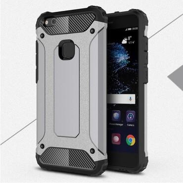 """Strapabíró """"Rock"""" védőtok Huawei P10 Lite készülékekhez – szürke"""