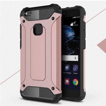 """Strapabíró """"Rock"""" védőtok Huawei P10 Lite készülékekhez – rózsaszín"""