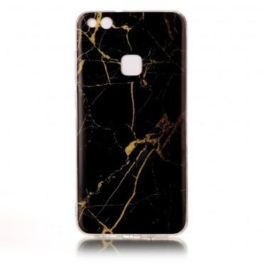 Marble divatos védőtok Huawei P10 Lite készülékekhez – fekete
