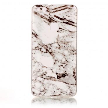Marble divatos védőtok Huawei P10 Lite készülékekhez – fehér