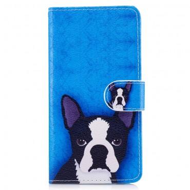 """Divatos """"Boston Terrier"""" tárca Huawei P10 Lite készülékekhez"""