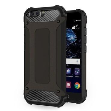"""Strapabíró """"Rock"""" védőtok Huawei P10 készülékekhez – fekete"""