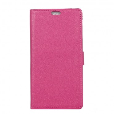 """Elegáns """"Litchi"""" műbőrtárca Sony Xperia XA1 készülékekhez – rózsaszín"""