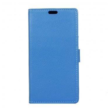 """Elegáns """"Litchi"""" műbőrtárca Sony Xperia XA1 készülékekhez – kék"""