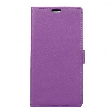 """Elegáns """"Litchi"""" műbőrtárca Sony Xperia XA1 készülékekhez – lila"""