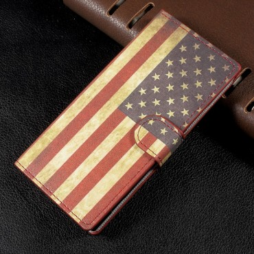 """Divatos """"Retro USA"""" tárca Sony Xperia XA1 készülékekhez"""