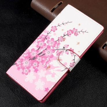 """Divatos """"Flower Bloom"""" tárca Sony Xperia XA1 készülékekhez"""