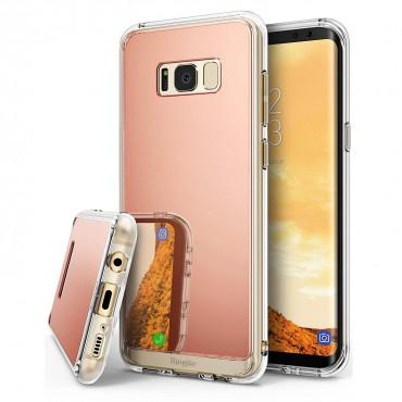 """Ringke """"Mirror"""" védőtok Samsung Galaxy S8 Plus készülékekhez – rose gold"""