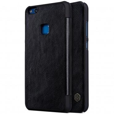 """Elegáns nyitható tok """"Qin"""" Huawei P10 Lite készülékekhez - fekete"""