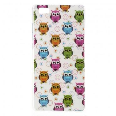Owls TPU géles védőtok Huawei P8 Lite készülékekhez